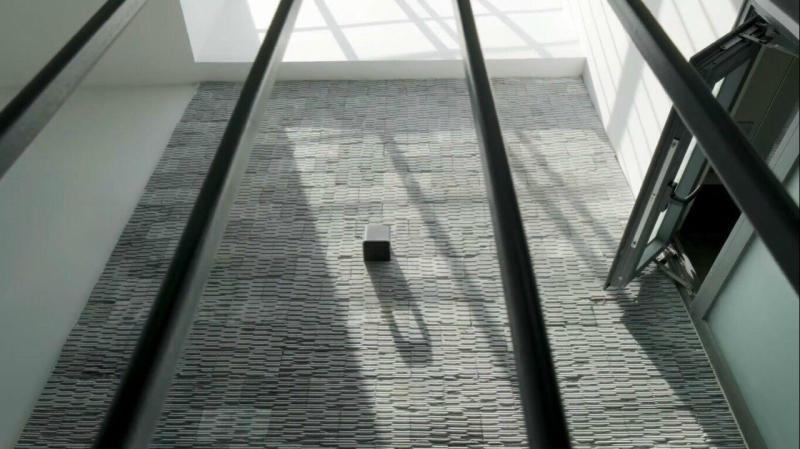 Đá lược đen ánh kim còn thích hợp với khu vực giếng trời tạo ra không gian nghệ thuật phản chiếu.
