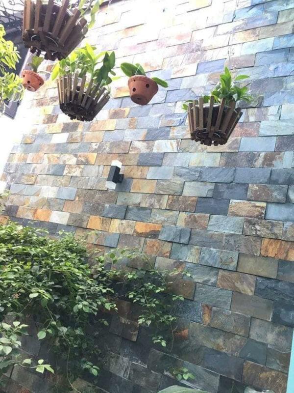 Đá đa sắc 10x20 ốp tường độc đáo